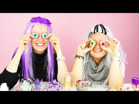 Halloween Candy Challenge 🎃 DIY Inspiration mit Eva& Kathi | Jelly Beans, Gehirn & Glibber Augen