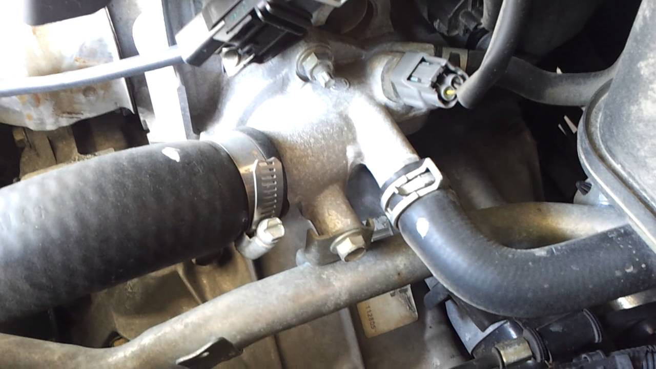 2006 Altima thermostat part 1  YouTube