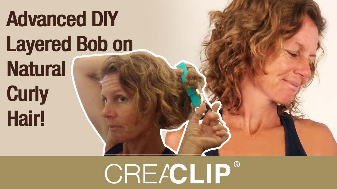 Advanced Diy Layered Bob On Natural Curly Hair Youtube