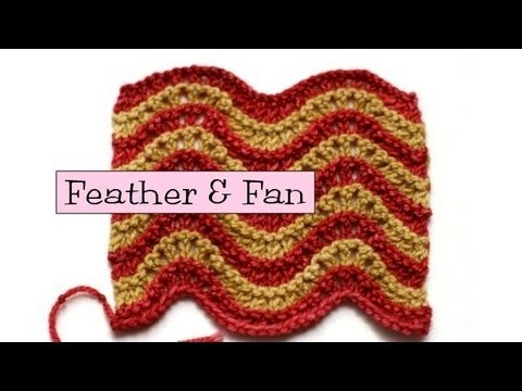 Fancy Stitch Combos Feather And Fan Youtube