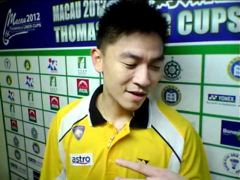TAN BOON HEONG AFTER DEFEATING INDIAN DOUBLES