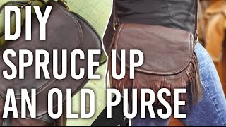 How to Spruce Up an Old Leather Purse : DIY