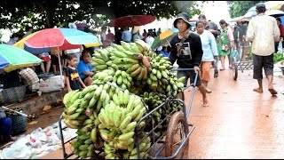 savannakhet laos market ( asian street food )  - laos street food , laos food