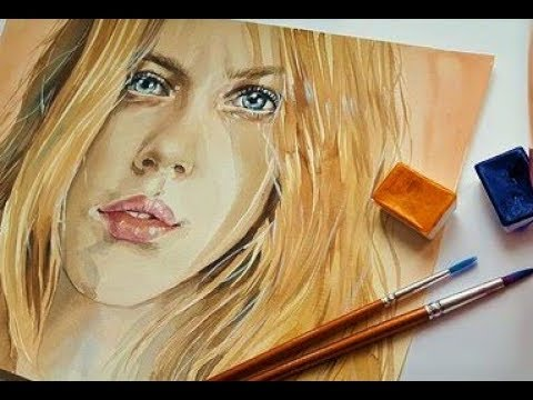 How should beginners paint portraits in Acrylics? painting the female face Lesson 2