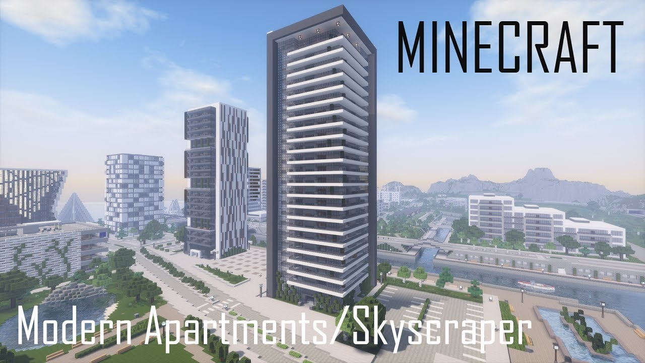 Minecraft Modern Apartment Building 7/Skyscraper (full interior) + Download