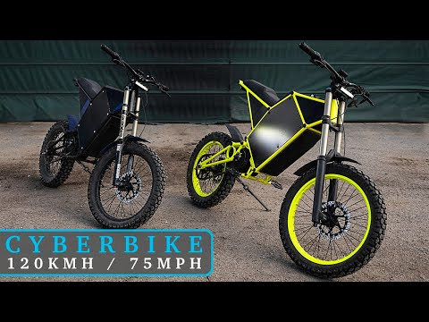 Riding CyberBike / Lightweight Electric Motorcycle - Max Speed, Acceleration & Climbing Uphill