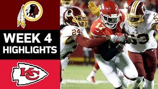 Redskins vs. Chiefs | NFL Week 4 Game Highlights