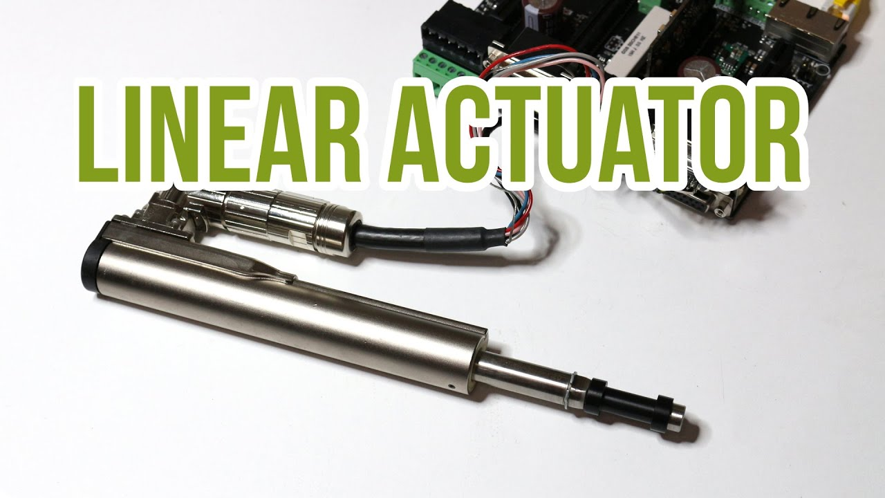 Linear actuator driven by ioni pro servo drive youtube for Servo motor linear actuator
