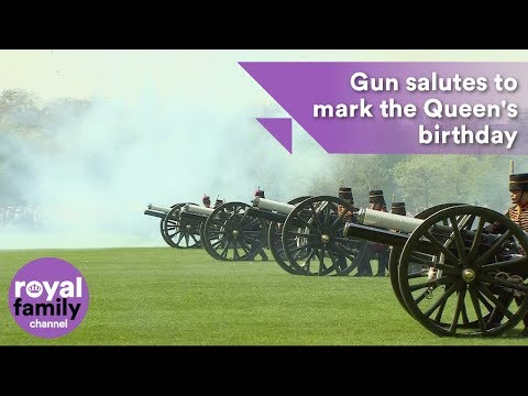 Gun salutes at Tower of London and Hyde Park mark Queen's birthday