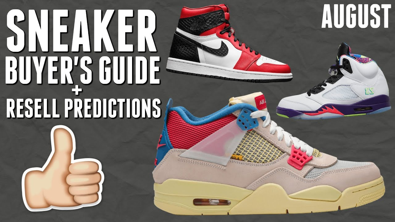 August Sneaker Releases + Resell Predictions (Jordan 4 Union, Yeezy Azareth, & More!)