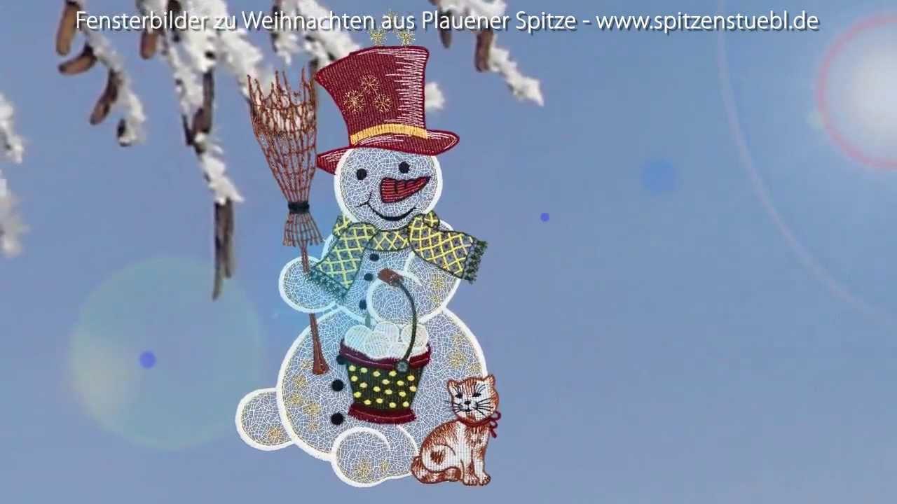 plauener spitze fensterbilder zu weihnachten im online shop youtube. Black Bedroom Furniture Sets. Home Design Ideas