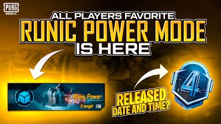 New Classic Mode Runic Power   Runic Power Mode Is Here   M4 RoyalPass Release Date and Time   Pubgm