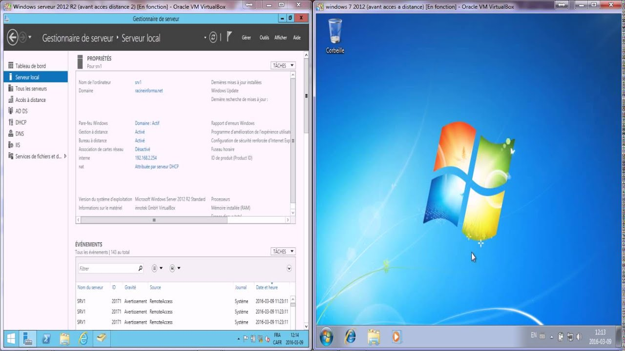 Configurer bureau a distance sous Windows Server 2012 Remote