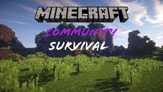 Minecraft | Community Survival | Episode 1 Fresh Start!! #Live #MCPE