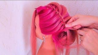 Beautiful Hairstyle . Tutorial ★ Красивая прическа на средние волосы
