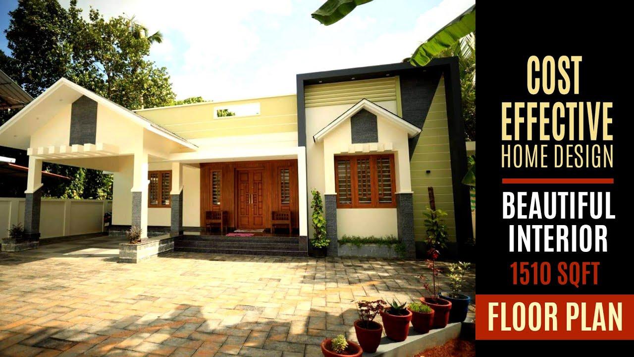 Single Storey 3BHK Kerala Home | 1510 sqft Low budget house below 29 Lakhs interior | NR Associates