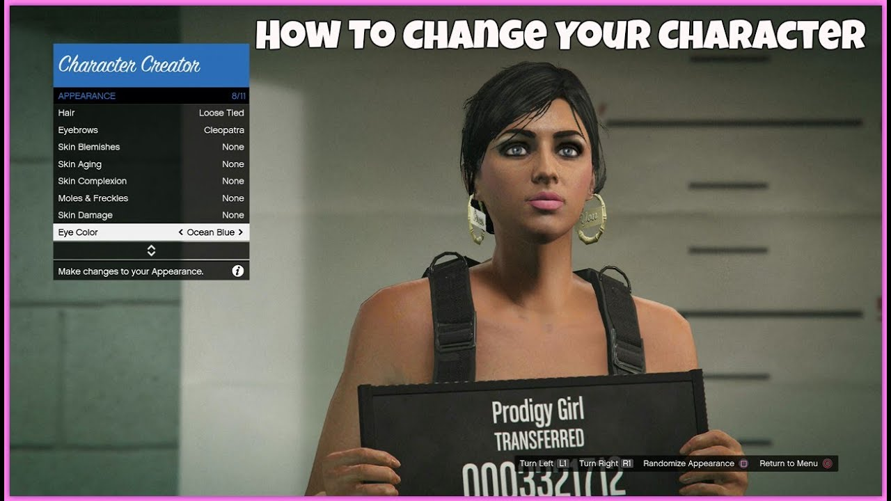 Online eye color changer - Gta5 Online How To Change Your Characters Appearance On Ps4 Works Youtube