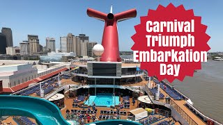 Carnival Triumph Embarkation Day 2018 | Port of New Orleans | Cruise Day 1