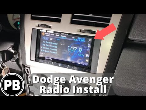 dodge nitro radio wiring diagram 1999 toyota 4runner sunroof 2007 2014 avenger stereo install w steering volume controls youtube