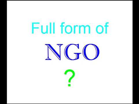 NGO Full Form (एनजीओ) ? - YouTube