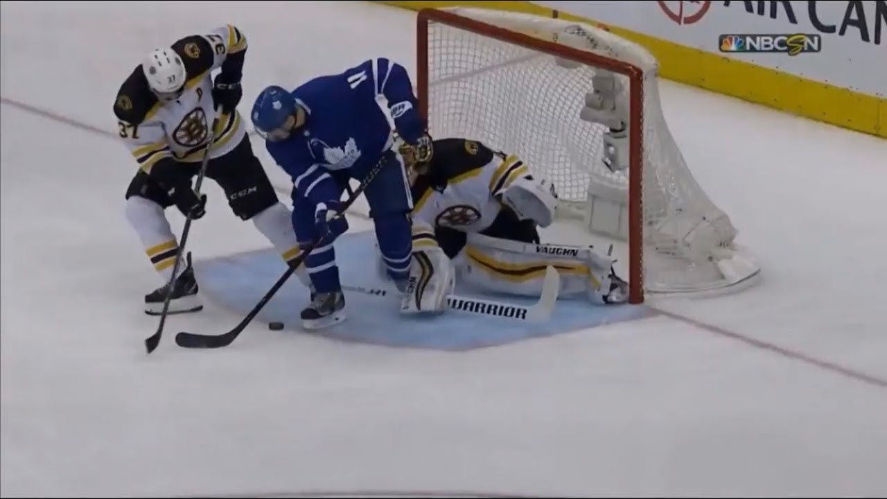 Leaf S Goal Reversed Due To Goalie Interference Leafs Vs Bruins
