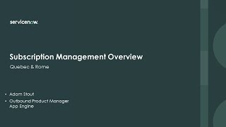 Academy Session #8: Subscŗiption Management