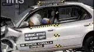 Toyota Corolla | 1995-2002 | Frontal Offset Crash Test | CrashNet1