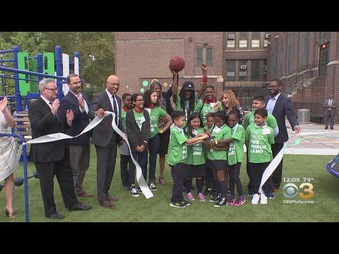 New Playground Opens At Benjamin Franklin Academics Plus School In Crescentville