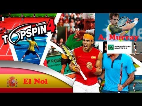 Top Spin 4 ps3 español modo carrera   BNP Paribas Master ATP   Semifinal Andy Murray muy difícil