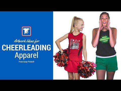 Artwork Ideas for Cheerleading Apparel