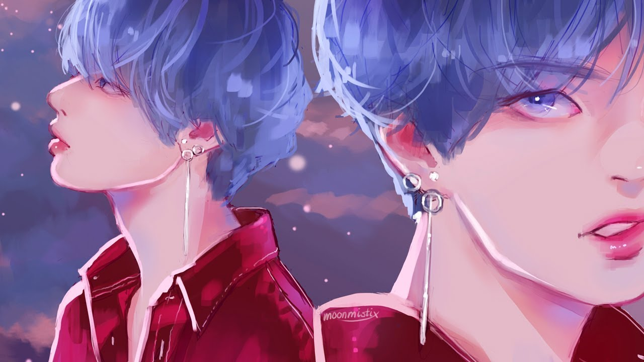 Go Get It Girl Laptop Wallpaper Speedpaint Taehyung Dna Youtube