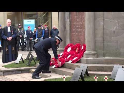 2016 Armistice Day Friday November 11 Perth Perthshire Scotland