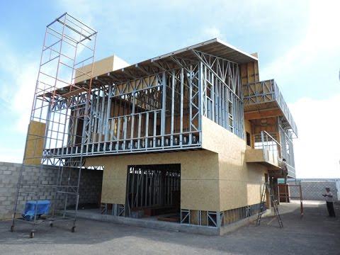 Construindo casa de steel frame sobre laje da casa youtube - Casas steel framing ...