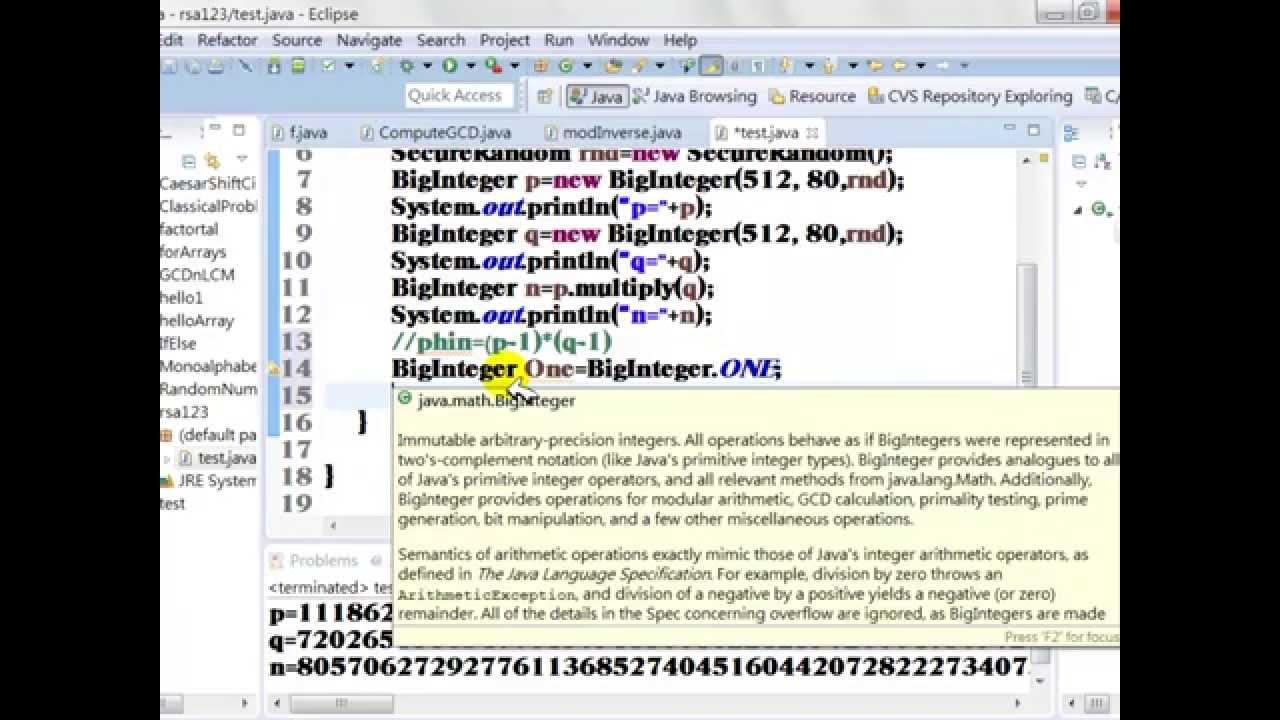 generate rsa key pair java