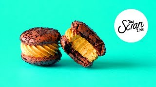 CHOCOLATE PUMPKIN PIE MACARONS - The Scran Line