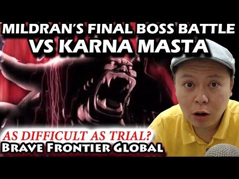 Mildran EPIC Final Boss Battle VS Karna Masta Walkthrough (Brave Frontier Global)