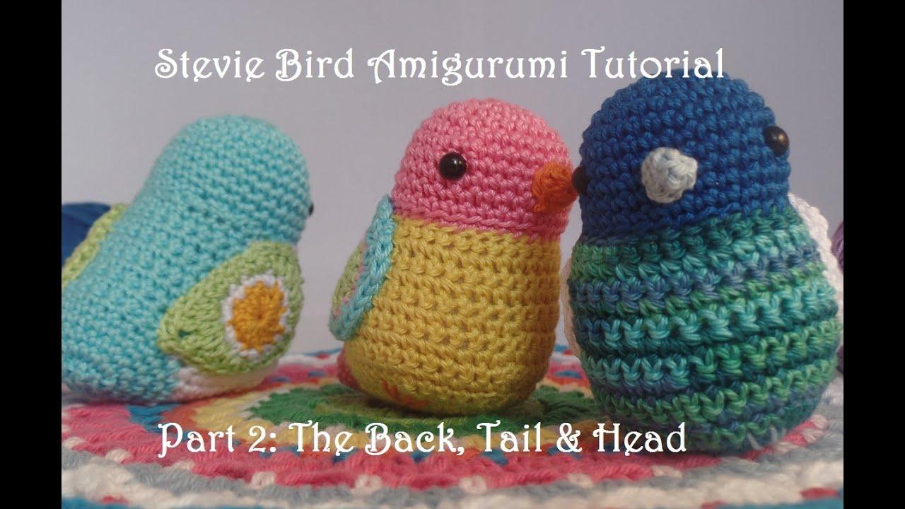 Amigurumi Bird Tutorial : Stevie bird part head back and tail youtube