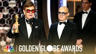 Elton john and bernie taupin accept the award for best original song - motion picture at 77th annual golden globe awards.» subscribe more: http://bit...