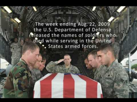 US Military Fallen  week ending Aug. 22, 2009