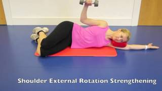 Side Lying Rotator Cuff Shoulder Strengthening Exercise