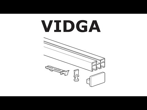 HOW TO INSTALL IKEA VIDGA RAIL: TRIPLE TRACK