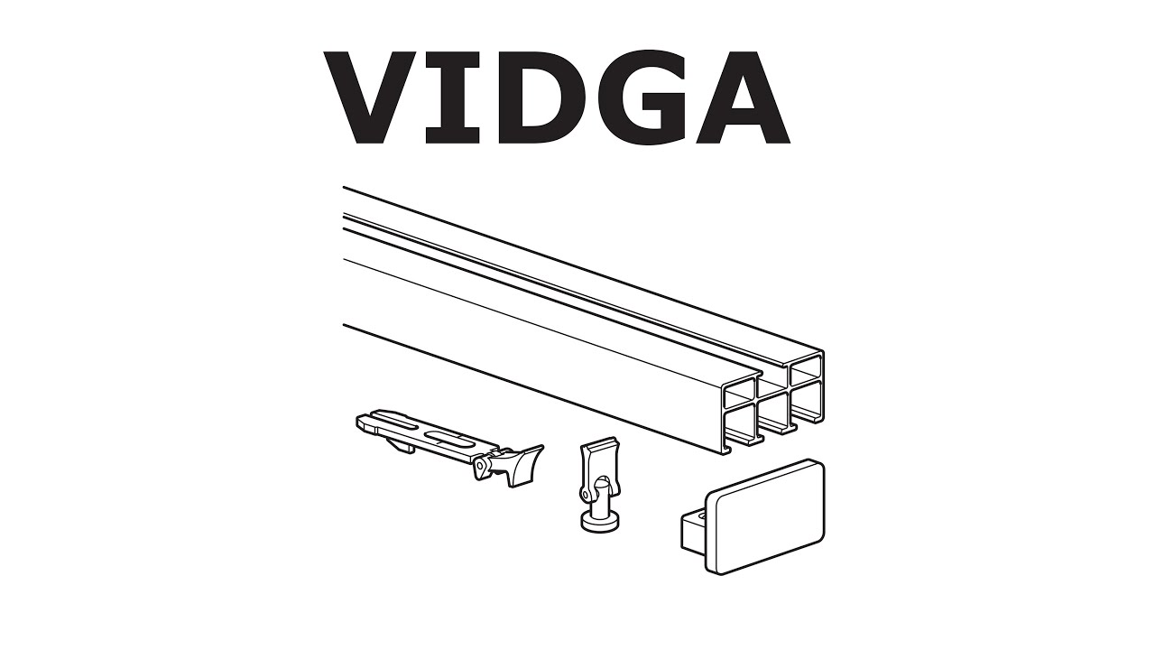 how to install ikea vidga rail  triple track