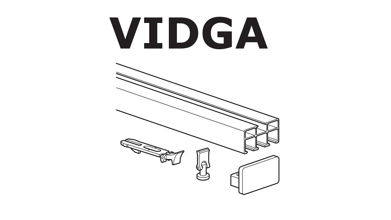 how to install ikea vidga rail triple track