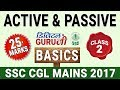 Active & Passive Voice | Basics | English | Class 2 | SSC CGL MAINS 2017 | Digital Guru Ji