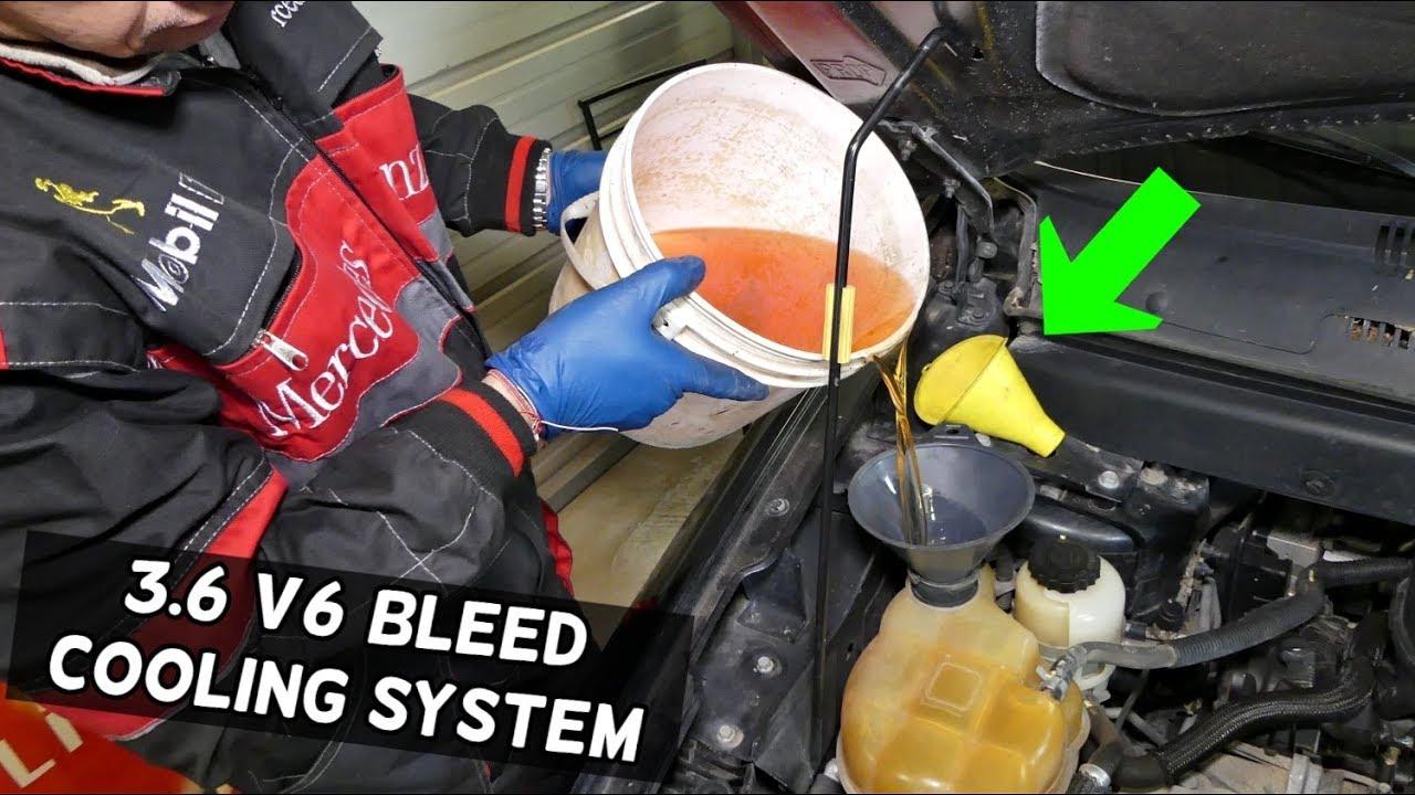 dodge chrysler jeep 3 6 pentastar how to bleed cooling system heat pump drain pentastar radiator drain #11
