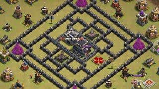 How to take 3 star in Th9 troll base with lava loon