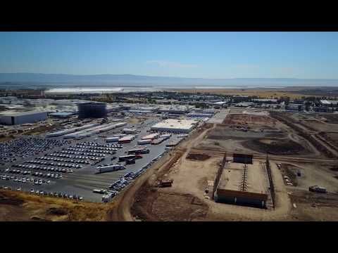 The Tesla plant in Fremont CALIFORNIA, July 2017