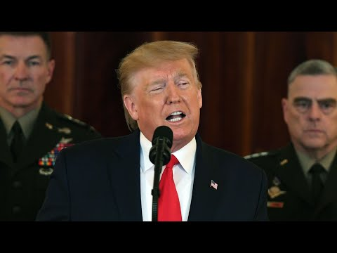 Watch again: Donald Trump stops short of threatening Iran with further military action