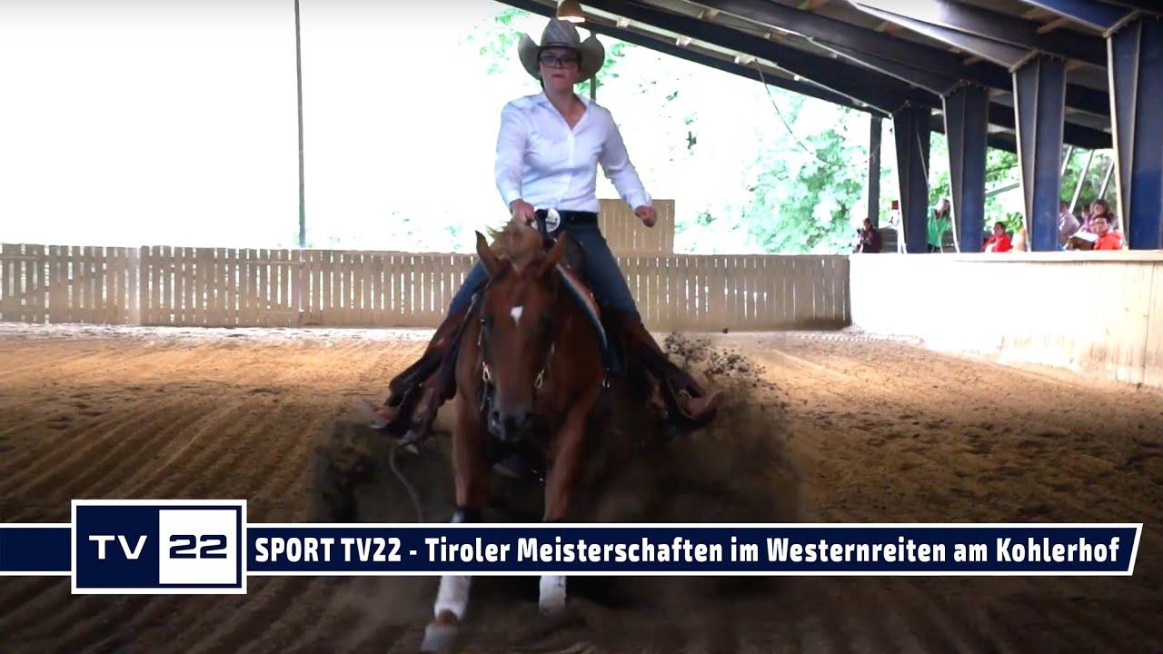 SPORT TV22: Tiroler Meisterschaften im Westernreiten am Kohlerhof in Volders - Reining Highlights