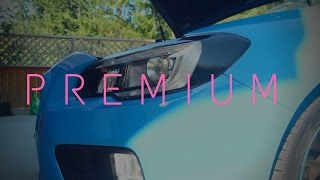 Premium Auto Styling Overlays | 2016 Hyper Blue Subaru WRX STI